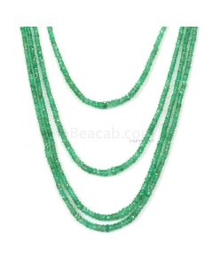 Medium Green Emerald Faceted Beads - 6 Lines - 204.00 - 2.4 to 4.7 mm (EMFB1101)