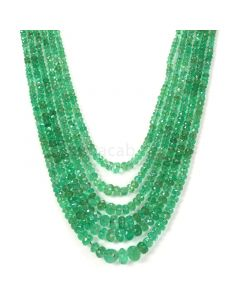 Medium Green Emerald Faceted Beads - 6 Lines - 219.50 - 2.1 to 7 mm (EMFB1081)
