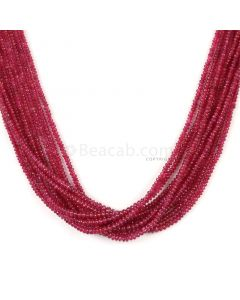 10 Lines - Medium Red Ruby Smooth (Plain) Beads - 158 - 1.5 to 2.5 mm (RSB1063)