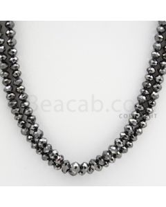 Black Diamond Faceted Beads - 2 Lines - 100.30 carats (BDia1002)