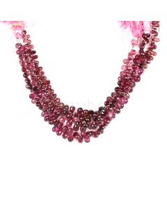 3 Lines - Dark Pink Tourmaline Faceted Drops - 241.50 cts - 5.5 x 4.4 mm to 8.6 x 5.9 mm (TFD1214)