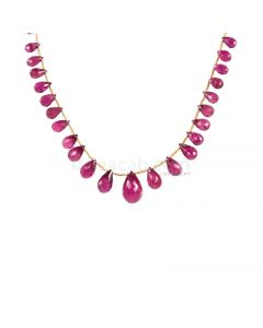 1 Line - Medium Pink Tourmaline Faceted Drops - 53.00 cts - 5.7 x 3.5 mm to 9.5 x 14.9 mm (TFD1222)