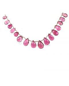 1 Line - Medium Pink Tourmaline Drops - 22.43 cts - 5.5 x 3.8 mm to 10.9 x 7.3 mm (TSD1200)
