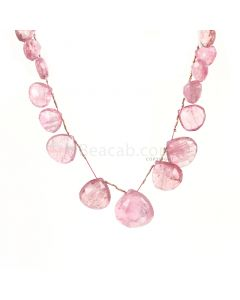 1 Line - Light Pink Tourmaline Faceted Drops - 181.00 cts - 11 x 11.2 mm to 21 x 22 mm (TFD1264)