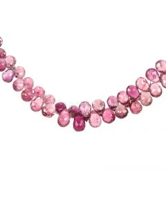 1 Line - Medium Pink Tourmaline Faceted Drops - 88.00 cts - 6.4 x 4.5 mm to 8.6 x 5.8 mm (TFD1234)