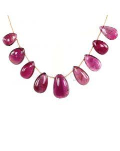 1 Line - Medium Pink Tourmaline Drops - 104.78 cts - 13.8 x 9.5 mm to 20.2 x 13.8 mm (TSD1217)