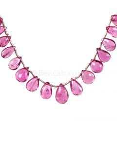 1 Line - Medium Pink Tourmaline Drops - 25.50 cts - 5.6 x 4.5 mm to 10.3 x 6.6 mm (TSD1209)