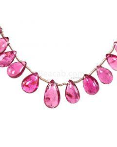 1 Line - Medium Pink Tourmaline Drops - 23.50 cts - 6.6 x 3.9 mm to 11.7 x 6.7 mm (TSD1208)