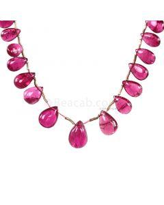 1 Line - Medium Pink Tourmaline Drops - 21.50 cts - 5.7 x 4.2 mm to 10.6 x 7 mm (TSD1210)