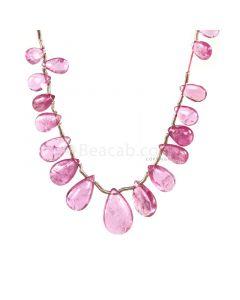 1 Line - Medium Pink Tourmaline Drops - 17.55 cts - 6.3 x 4 mm to 12.5 x 8.8 mm (TSD1216)