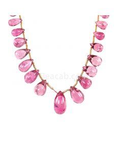 1 Line - Medium Pink Tourmaline Drops - 33.00 cts - 5.5 x 3.9 mm to 12.5 x 6.8 mm (TSD1215)