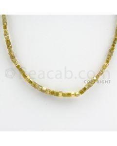 Fancy Diamond Cube Beads - 1 Line - 33.00 carats (FncyDiaCu1016)