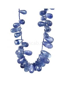 1 Line - Dark Blue Sapphire Faceted Drops - 131.00 cts - 3.6 x 6.6 mm to 10.5 x 5.2 mm (SDR1032)