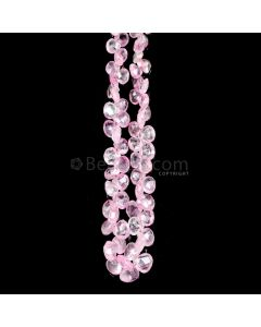 1 Line - Light Pink Pink Sapphire Faceted Drops - 63.05 cts - 3.3 x 3.3 mm to 5.5 x 6 mm (PSDR1013)
