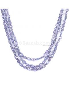 3 Lines - Violet Tanzanite Tumbled Beads - 118.00 cts - 3.1 x 2.9 mm to 6.4 x 4.8 mm (TZTUB1056)