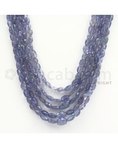 5.00 to 9.00 mm - Tanzanite Faceted Tumbled Beads - 267.90 carats - 17 to 20 inches (TzFTuB1009)