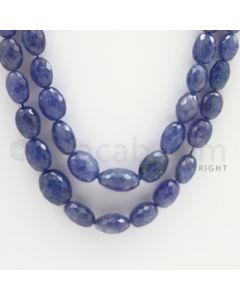 7.00 to 16.00 mm - Tanzanite Faceted Tumbled Beads - 545.00 carats - 23 to 24 inches (TzFTuB1016)