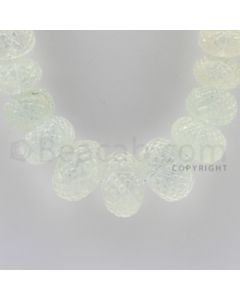 9.25 to 30.00 mm - 1 Line - Aquamarine Carved Beads - 18 inches (AqCarB1007)