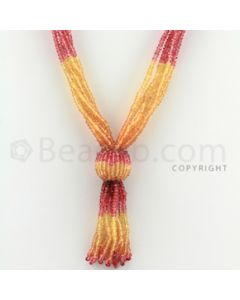 2.50 mm - 7 Lines - Spinel, Yellow Sapphire Faceted Beads - 20 inches (CSNKL1039)