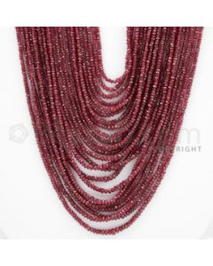 2.00 to 4.50 mm - Ruby Faceted Beads - 740.00 Carats - 23 Lines (RFB1036)