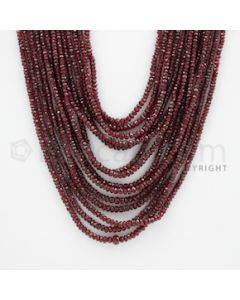 2.00 to 4.50 mm - Ruby Faceted Beads - 530.00 Carats - 14 Lines (RFB1039)