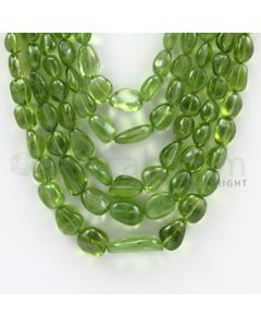 7.50 to 21.00 mm - 5 Lines - Peridot Tumbled Beads - 16 to 19 inches (PSTu1001)