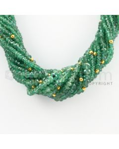 2.30 to 6.30 mm - 16 Lines - Emerald Faceted Beads Necklace - 17.25 inches (CSNKL1053)
