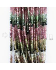 3.20 to 3.70 mm - 25 Lines - Tourmaline Faceted Beads - 14.50 inches (MuToFB1001)