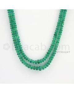 2.60 to 5.20 mm - 2 Lines - Emerald Smooth Beads - 17 to 18 inches (EmSB1031)