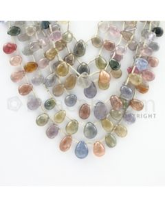 5.50 to 11.00 mm - 7 Lines - Multi-Sapphire Pear Drops - 15 to22 inches (MSPD1002)
