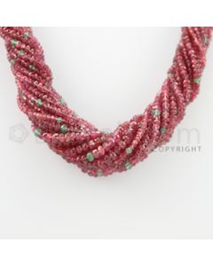 2.50 to 5.50 mm - 16 Lines - Spinel Faceted Beads Necklace - 17 inches (CSNKL1078)