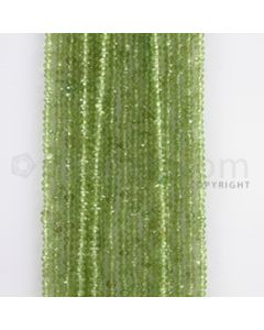 2.50 to 3.50 mm - 18 Lines - Peridot Faceted Beads - 14.5 inches (PFB1008)