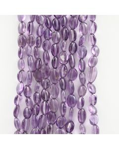 8 to 9 mm - 9 Lines - Amtheyst Gemstone Tumbled Beads - 634.50 carats (AmTuB1002)