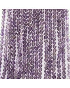 6.50 mm - 17 Lines - Amtheyst Gemstone Faceted Beads - 1858.00 carats (AmFB1001)