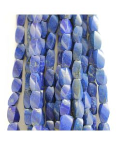 12.50 to 15.50 mm - 6 Lines - Lapis Lazuli Gemstone Faceted Tumbled Beads - 1181.00 carats (LapisB1012)