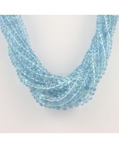 4 to 8.50 mm - 9 Lines - Aquamarine Gemstone Faceted Beads - 845.00 carats (CSNKL1090)