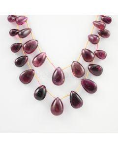 10 to 16.50 mm - Dark Pink Tourmaline Drop - 541.00 carats (ToDr1074)