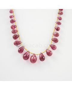 6 to 13.50 mm - Medium Pink Tourmaline Faceted Drop - 50.00 carats (ToDr1077)