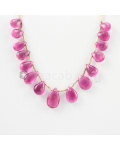 6 to 11 mm - Medium Pink Tourmaline Drop - 15.50 carats (ToDr1080)