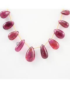 11 to 18 mm - Dark Pink Tourmaline Drop - 58.50 carats (ToDr1081)