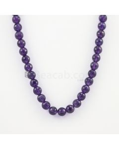 10.20 to 10.50 mm - Dark Purple Amethyst Faceted Beads - 275.00 carats (AmFB1008)
