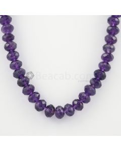 8 to 10 mm - Dark Purple Amethyst Faceted Beads - 293.50 carats (AmFB1011)