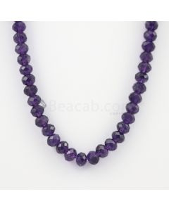 9.70 to 10 mm - Dark Purple Amethyst Faceted Beads - 262.00 carats (AmFB1012)