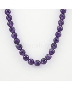 10.50 mm - Dark Purple Amethyst Faceted Beads - 280.00 carats (AmFB1013)