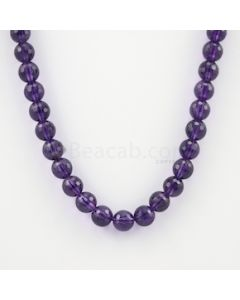 10.30 mm - Dark Purple Amethyst Faceted Beads - 274.00 carats (AmFB1016)