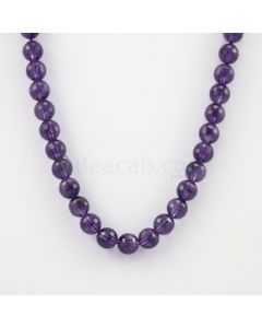 10.30 mm - Dark Purple Amethyst Faceted Beads - 282.00 carats (AmFB1017)