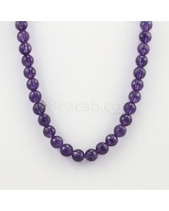 10.20 to 10.80 mm - Dark Purple Amethyst Faceted Beads - 276.50 carats (AmFB1019)