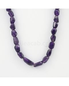 10.50 to 19 mm - Dark Purple Amethyst Tumbled Beads - 224.00 carats (AmTuB1005)
