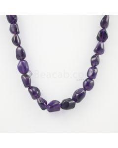 12 to 16 mm - Dark Purple Amethyst Tumbled Beads - 268.50 carats (AmTuB1009)