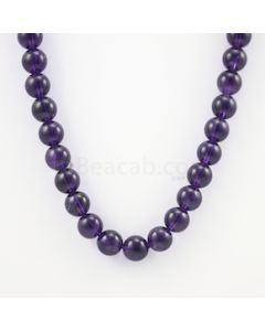 11.50 mm - Dark Purple Amethyst Smooth Beads - 350.00 carats (AmSB1002)